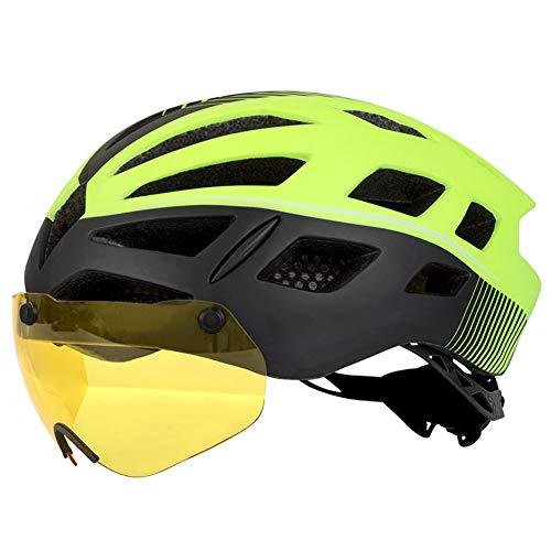 Fahrradhelm mit Abnehmbarer magnetischer Schutzbrille Visier für Fahrradhelme, Mountainbikes und Rennräder Einstellbare Fahrradhelme für Erwachsene, Männer und Frauen