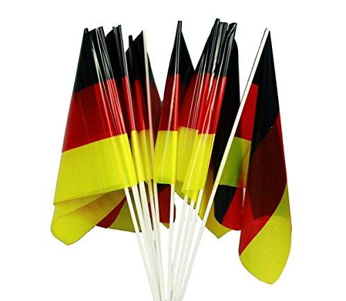 HAAC 12er Set Handfahne Fahne in Deutschlandsfarben Deutschland Länge 40 cm Fußball EM 2016