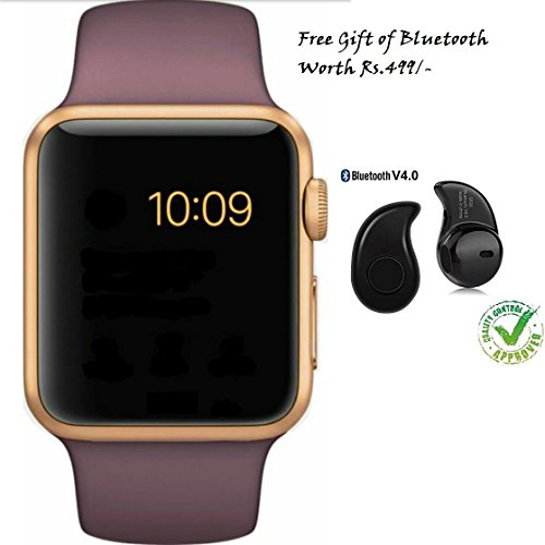 Apple iPhone 7 Plus Compatible Ceritfied GT08 Bluetooth 3.0 Smart Watch with Camera SIM for Samsung Sony Android Phone(Assorted Color) with FREE GIFT