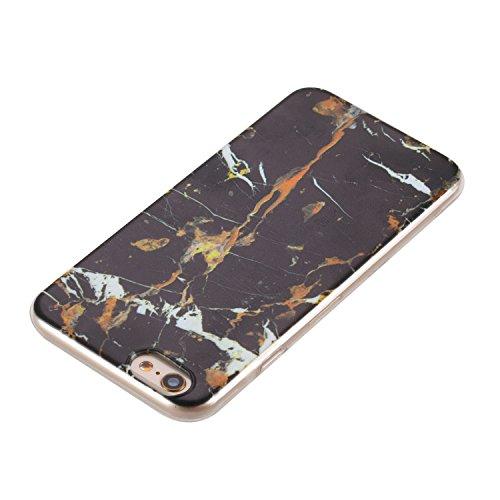 Pour Apple Iphone 6 Plus Case Cover, Ecoway girafe shell téléphone TPU en silicone souple en relief personnalité silicone Housse de Housse pour téléphone portable pour Apple Iphone 6 Plus - girafe marbre noir