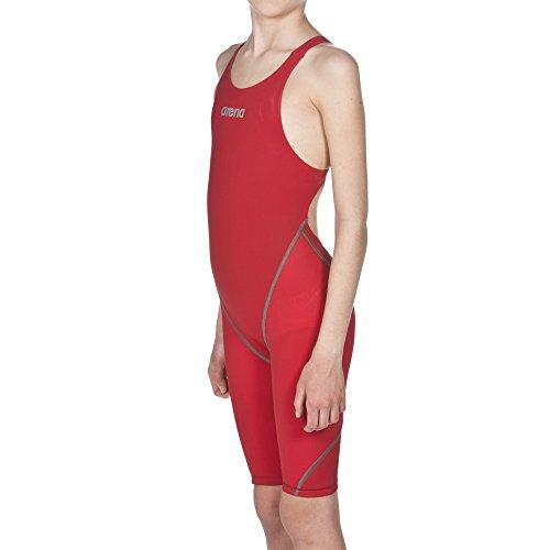arena Mädchen Powerskin ST 2.0 Offener Rücken Schwimm-Wettkampfanzug, Red, 152