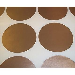 Audioprint Ltd. 500er Pack Rund Bestandskontrolle Farben Code Display Punkte Aufkleber Selbstklebeetiketten - Gold, 13mm