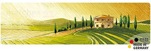 matches21 Küchenläufer Teppichläufer Teppich Läufer Mediterrane Landschaft 50x180x0,4 cm maschinenwaschbar Rutschfest Küchenvorleger