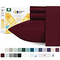California Design Den 400 Thread Count Sheet Set, 100% Long-Staple Cotton California King Red CDD-400TC-LS-Cotton-$P