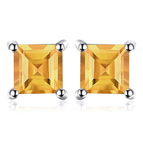 Jewelrypalace quadrata 0.6ct naturale citrino 925 sterling argento stud orecchini