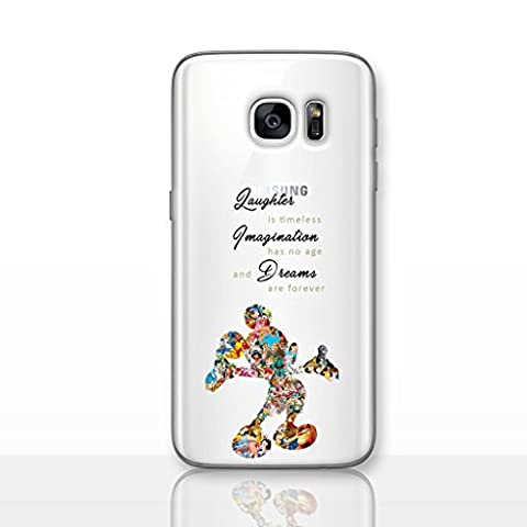 Fan Art Telefon Hülle/Case für Samsung Galaxy S7 Edge (G935) mit Displayschutzfolie / Silikon Weiches Gel/TPU / iCHOOSE / Disney Quote