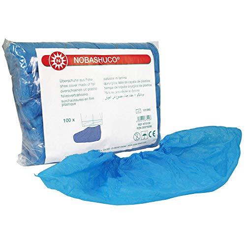 NOBASHUCO Überschuhe aus Folie Blau 100 Stück