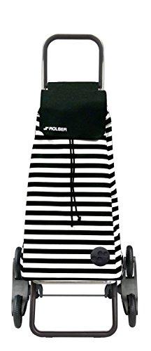 Rolser Treppensteiger RD6 / Marina, MOU088, 47,5 x 39,5 x 107 cm, 51 Liter, 50 kg Tragkraft, schwarz-weiß