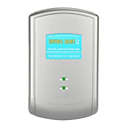 Dark Grey Rectangle Money Saving Box Electricity Saving Enhancer Inductive Power Factor Energy Saving UK Standard Plug Type Save Your Current Up to 30%, Home Office Indoor Use