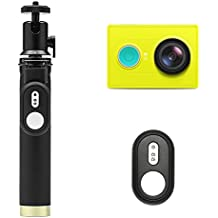 YI Action Camera with Selfie Stick & Bluetooth Remote (US Edition) Lime Green Action Cameras & Accessories at amazon