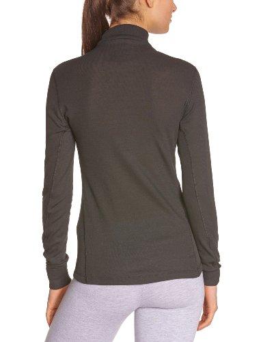 Odlo Damen-T-Shirt Warm, langärmelig schwarz - schwarz