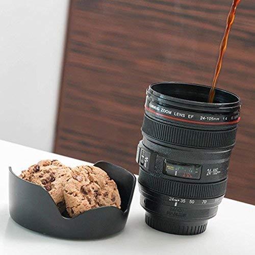 InnovaGoods | Taza lente multifunción | Termo de café con tapa | 400 mL
