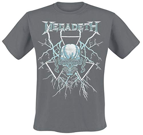 Megadeth Elec Vic Camiseta Gris Marengo XL