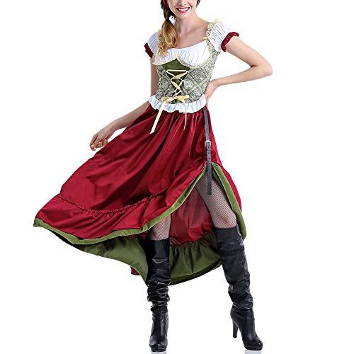 Julymall Deutsches Oktoberfest Dirndlkleid, Damen Deutsches Dirndlkleid
