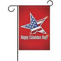 ALAZA Feliz Día de la Raza doble echó a un lado decorativo de la bandera del