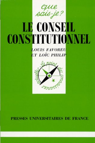 Le conseil constitutionnel, 6e dition