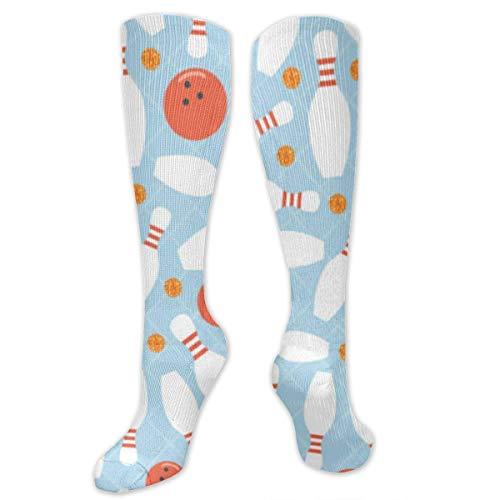 Gped Kniestrümpfe,Socken Bowling Red Smiling Face Compression Socks,Knee High Socks,Funny Socks for Women Men - Best Medical,Sports,Running, Nurses,Maternity,Pregnancy,Travel & Flight Socks
