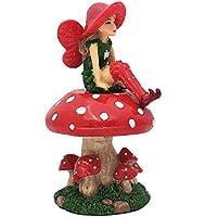 Lulu El Hada con Soporte Desmontable en forma de Seta para Jardines de Hadas / Jardines en Miniatura