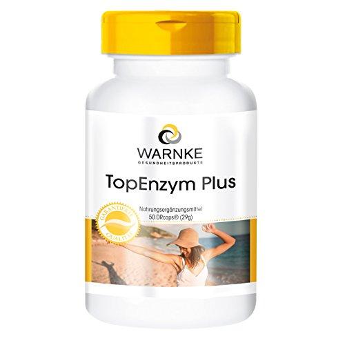 Enzym Komplex - TopEnzym Plus 50 DRcaps Bromelain - Trypsin - Chymotrypsin und Rutosid -