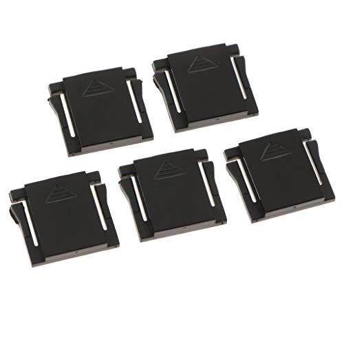P Prettyia 5 Stück Blitzschuhabdeckung Blitzschuh Schutzkappe Hot Shoe Cover für Canon Nikon Olympus und mehr - Schwarz -