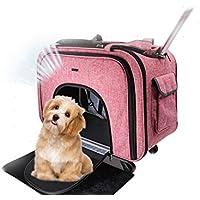 Cutepet Transportín Carrito Multiusos Mochila De Viaje Nylon para Perros Gatos Y Otros Animales Pequeños 2
