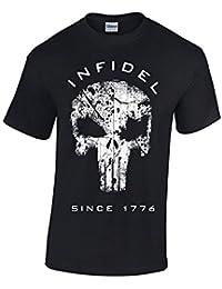 Crazy Bros Tee's American Punisher - Infidel 1776 - American Sniper Chris Kyle- Military Men's T-Shirt