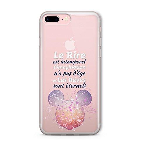 Coque Téléphone Shell Disney Caractère Splatter Clair pour iPhone XR Pink Mickey Mouse Quotation GAB