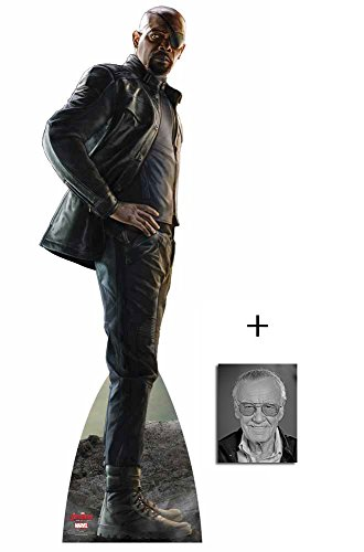 Nick Fury (Samuel L Jackson) from Avengers Age of Ultron Marvel Lebensgrosse Pappaufsteller mit 25cm x 20cm foto