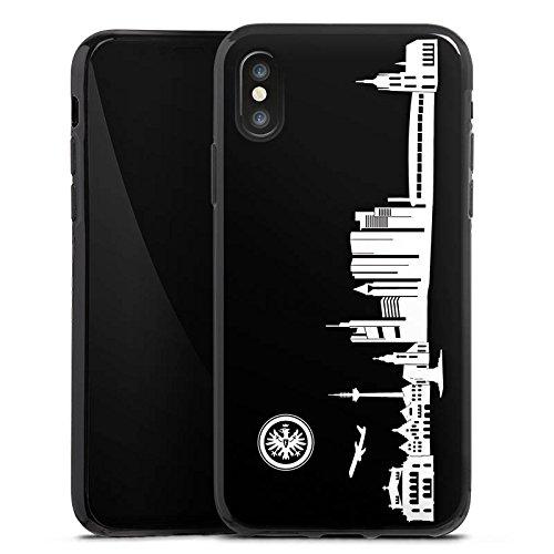 Apple iPhone 8 Hülle Premium Case Cover Eintracht Frankfurt Fanartikel skyline Silikon Case schwarz