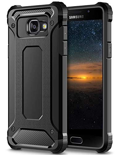 Cover Samsung A5 2016,Nero Shock-Absorption Protezione Hybrid Dura Soft TPU Case Bumper PC Rigida Custodia Cover per Samsung Galaxy A5 (2016) A510F