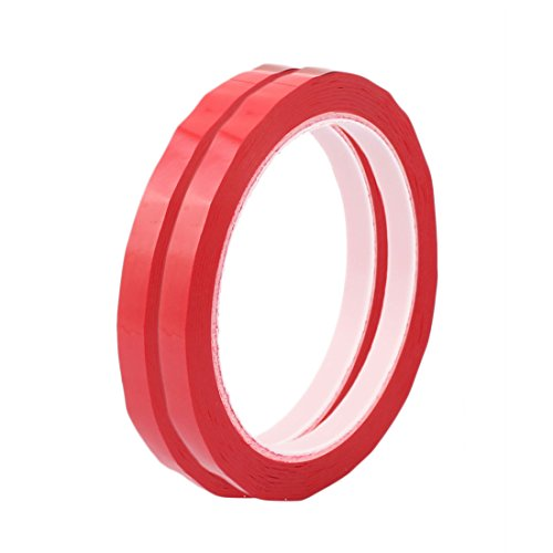 Blaue Mylar-band (2 Stk 10 mm Einseitig starke Selbstklebende Mylar Tape 50 m Länge Rot)