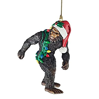 Design Toscano DB383084 Bigfoot the Holiday Yeti Ornament