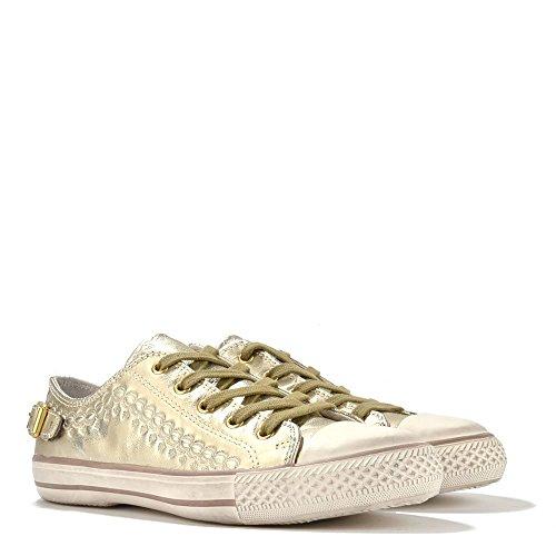 Ash Virgo Sneaker aus Leder, Damen Gold
