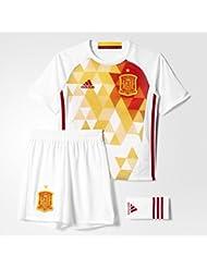 2ª equipación Selección Española de Futbol 2016-2017 - Conjunto camiseta y pantalón corto oficial adidas, talla 140
