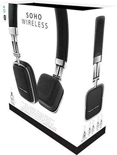 Harman Kardon Soho Wireless On-Ear Mini Kopfhörer (NFC, Bluetooth, faltbarer, tragbarer, geeignet für Apple iOS/Android Smartphones/Tablets/MP3 Geräten) schwarz - 9