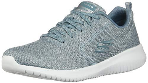 Skechers Women's Ultra Flex Lace Up Sneaker Sage Blue 7.5 M US -