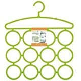 Styleys Multi Purpose 12 Rings Hanger for Ties Scarfs Belts Bags Coat Etc Cloth Hanger (Random Color)