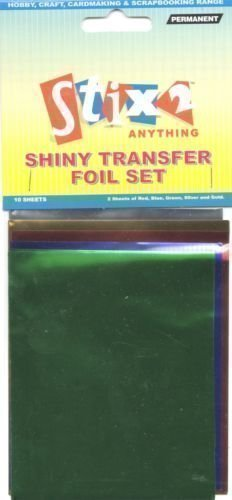 10-sheets-transfer-foils-assorted-colours-red-blue-green-silver-gold