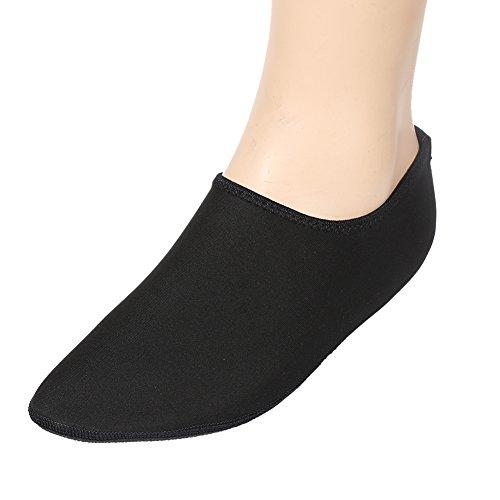 MORESAVE Unisex piedi nudi pelle scarpe d'acqua Yoga calzini sport surf formatori sandali Calzature nero
