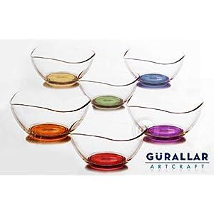 6 x Gurallar Artcraft Corallo bicchiere DESERTO ciotole 310cc inscatolato vir261