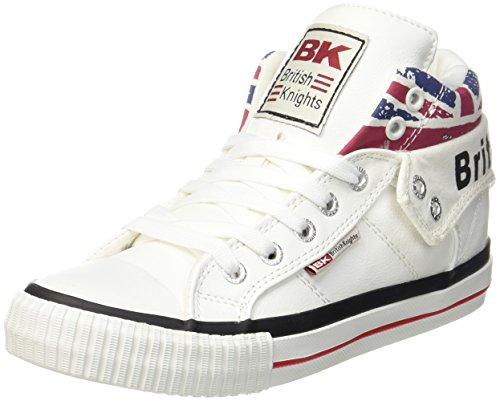 British Knights Unisex-Erwachsene ROCO Hohe Sneaker, Weiß (White/Union Jack 1), 45 EU
