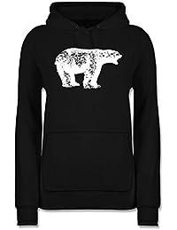 6dafa2102c9d0e ShirtYouWant Tiermotive - Weißer Bär - - Frauen Damen Premium Kapuzenpullover  Kapuzenpulli Hoodie Hooded…