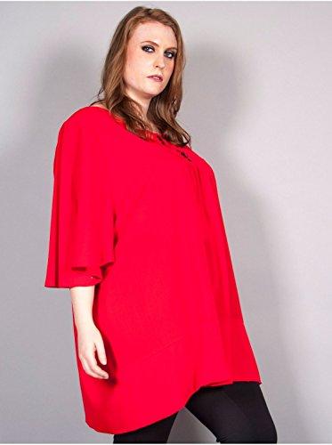 Vêtement Femme Grande Taille Tunique Edmond Boublil rouge Rouge
