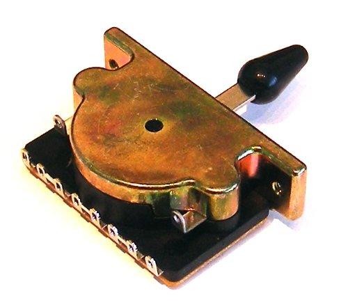 Drei Position Gitarre Pickup-Wahlschalter mit schwarzer Spitze und Schrauben