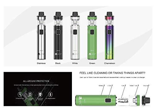 Incon 24 Vaptio Solo 2 ® Kit 50w 4.0ml Tank All-in-one E-shisha E Zigarette Geeignet auch Für Anfänger cigarette Ohne Nikotin Ohne E Liquid Nicotine Free ( Grün )