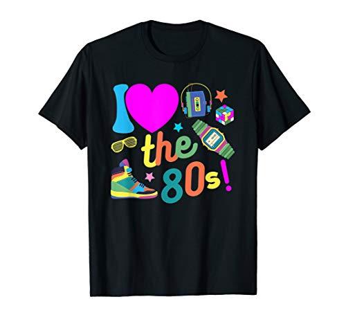 Jahre 80er Kostüm Ich Liebe - I love the 80s Shirt Ich liebe die 80er Jahre Party Kostüme T-Shirt
