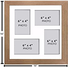 Wohnaccessoires & Deko Large Multi Picture Photo Aperture Frame 25.4cm x 20.32cm Size with 4 Openings in Grey Mount Möbel & Wohnaccessoires Choices of Frames