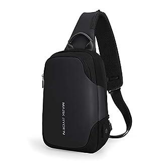 """4103cDFPavL. SS324  - Bolso del Bolso del Pecho de la Honda de Mark Ryden Anti-Theft para los Hombres Bolso del Hombro del Viaje de Crossbody Impermeable Adaptado para 9.7"""" iPad ..."""