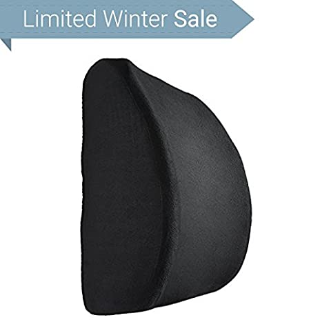 Supportiback® Orthopedic Premium Lower Lumbar Back Support Cushion for Lower Back Pain Relief and Better Posture – Medically Proven Ergonomic Back Lumbar Seat Pillow to Protect and Soothe Your Back– Premium Soft Memory Foam Perfect for Car Seat, Office Chair, Sofa, Wheelchair, Home and Travel