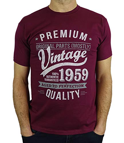 40230f013 1959 Vintage Year - Aged To Perfection - 60th Birthday Gift / Present Mens T -